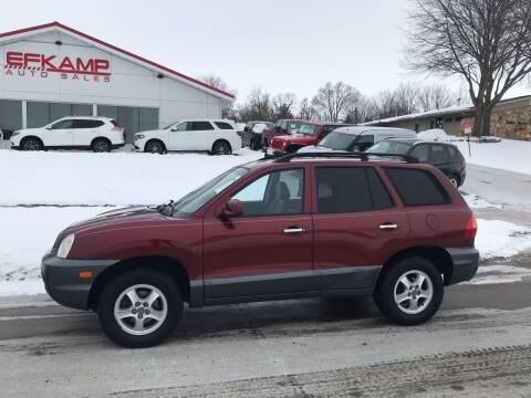 2002 Hyundai Santa Fe for sale at Efkamp Auto Sales LLC in Des Moines IA