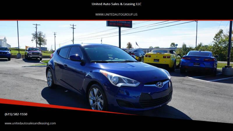 2016 Hyundai Veloster for sale at United Auto Sales & Leasing LLC in La Vergne TN