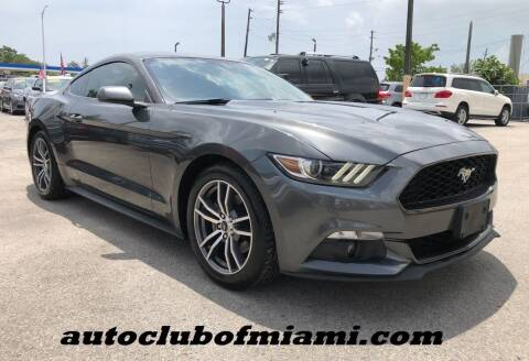 2016 Ford Mustang for sale at AUTO CLUB OF MIAMI, INC in Miami FL