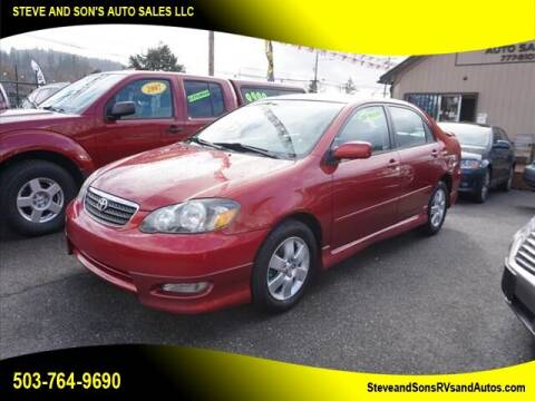 2005 Toyota Corolla for sale at Steve & Sons Auto Sales in Happy Valley OR