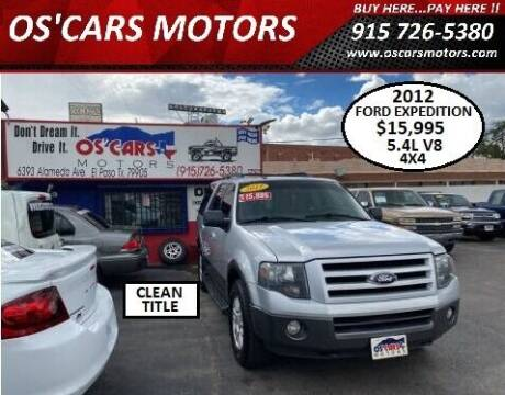 2012 Ford Expedition for sale at Os'Cars Motors in El Paso TX