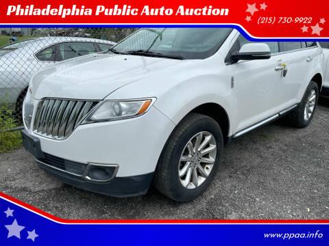 2013 Lincoln MKX for sale at Philadelphia Public Auto Auction in Philadelphia PA