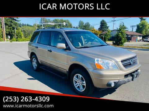 2005 Honda Pilot for sale at ICAR MOTORS LLC in Federal Way WA