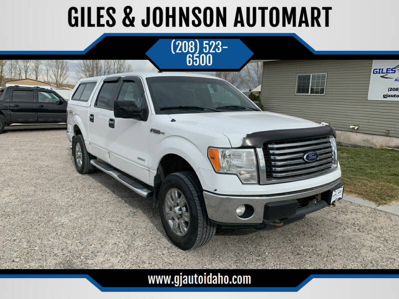2011 Ford F-150 for sale at GILES & JOHNSON AUTOMART in Idaho Falls ID