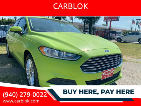 2014 Ford Fusion Hybrid for sale at CARBLOK in Lewisville TX