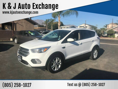 2017 Ford Escape for sale at K & J Auto Exchange in Santa Paula CA