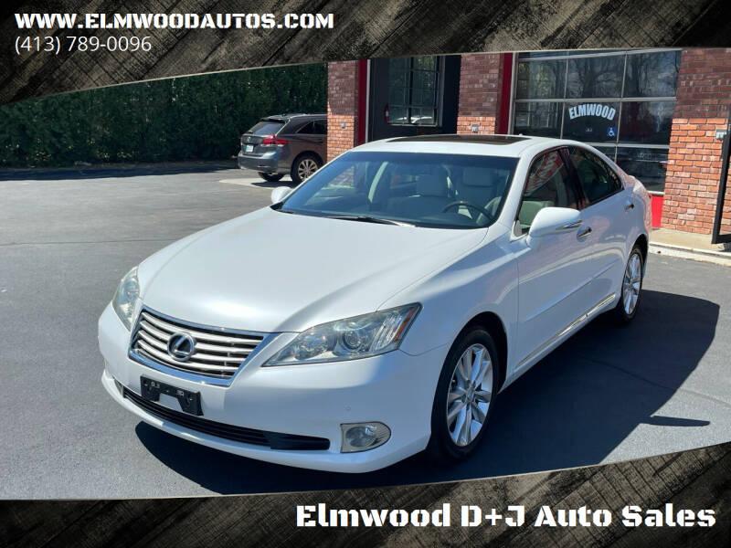 2011 Lexus ES 350 for sale at Elmwood D+J Auto Sales in Agawam MA