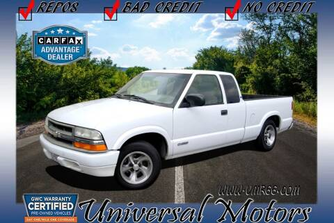 2001 Chevrolet S-10 for sale at Universal Motors in Glendora CA