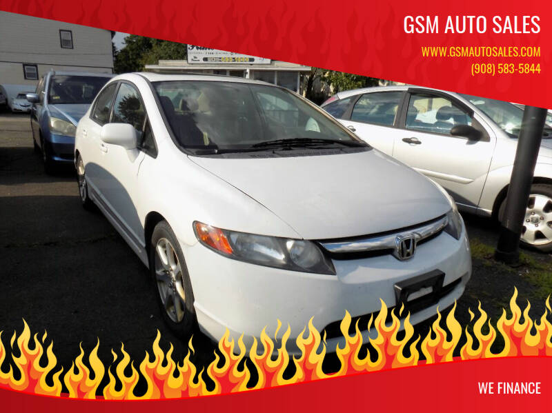 2008 Honda Civic for sale at GSM Auto Sales in Linden NJ