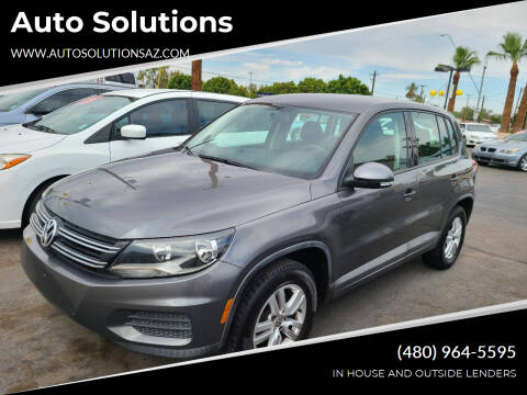 2012 Volkswagen Tiguan for sale at Auto Solutions in Mesa AZ