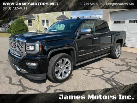 2018 GMC Sierra 1500 for sale at James Motors Inc. in East Longmeadow MA