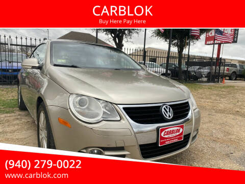 2007 Volkswagen Eos for sale at CARBLOK in Lewisville TX