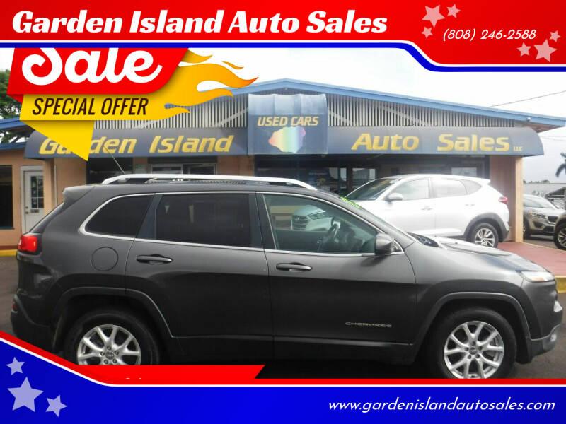 2015 Jeep Cherokee for sale at Garden Island Auto Sales in Lihue HI