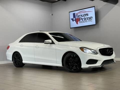 2014 Mercedes-Benz E-Class for sale at Texas Prime Motors in Houston TX
