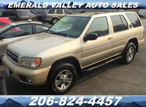 2001 Nissan Pathfinder for sale at Emerald Valley Auto Sales in Des Moines WA