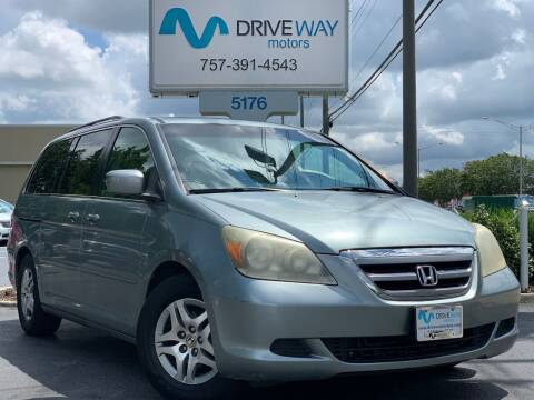 2005 Honda Odyssey for sale at Driveway Motors in Virginia Beach VA