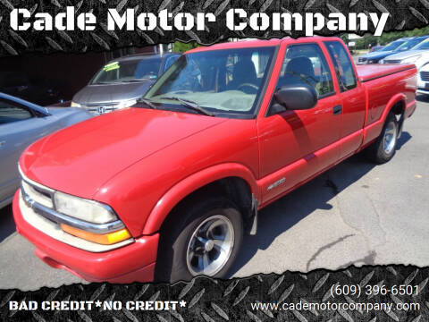 2000 Chevrolet S-10 for sale at Cade Motor Company in Lawrence Township NJ