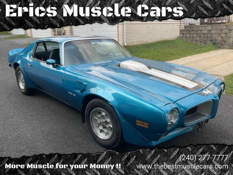 1971 Pontiac Trans Am for sale at Erics Muscle Cars in Clarksburg MD