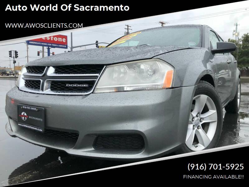 2012 Dodge Avenger for sale at Auto World of Sacramento Stockton Blvd in Sacramento CA