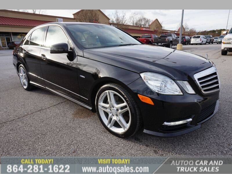2012 Mercedes-Benz E-Class for sale at Auto Q Car and Truck Sales in Mauldin SC
