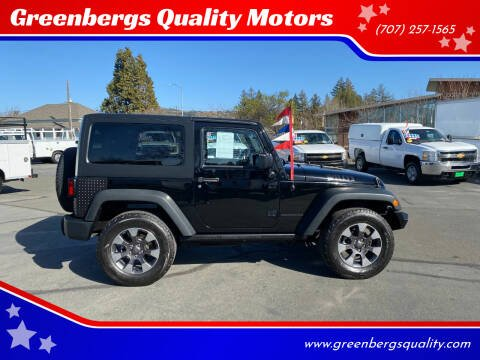 2014 Jeep Wrangler for sale at Greenbergs Quality Motors in Napa CA