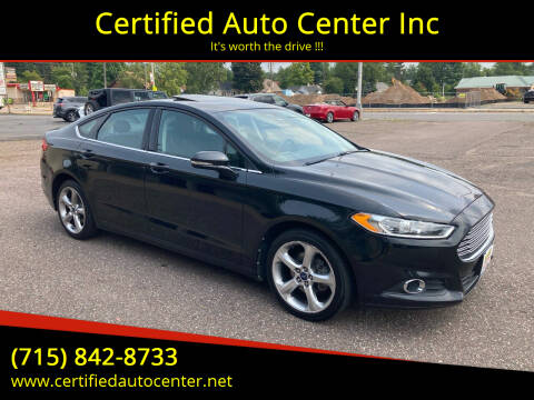 2013 Ford Fusion for sale at Certified Auto Center Inc in Wausau WI