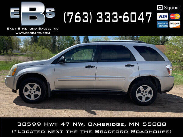 2005 Chevrolet Equinox for sale at East Bradford Sales, Inc in Cambridge MN