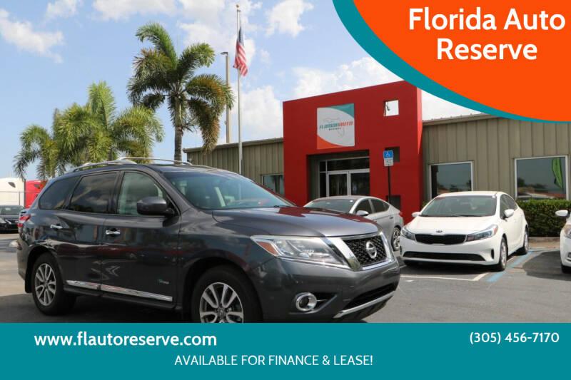 2014 Nissan Pathfinder Hybrid for sale at Florida Auto Reserve in Medley FL