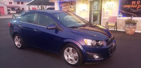 2013 Chevrolet Sonic for sale at ANYTHING ON WHEELS INC in Deland FL