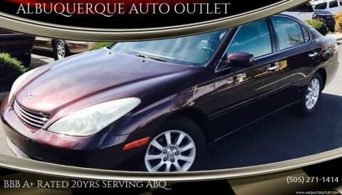 2004 Lexus ES 330 for sale at ALBUQUERQUE AUTO OUTLET in Albuquerque NM