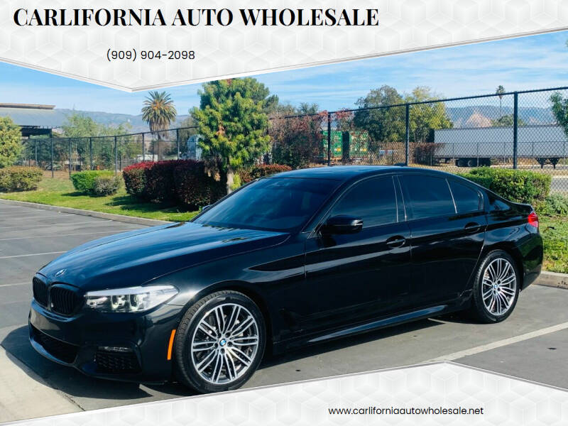 2019 BMW 5 Series for sale at CARLIFORNIA AUTO WHOLESALE in San Bernardino CA