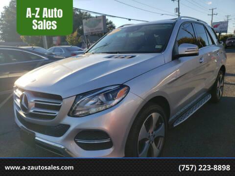 2017 Mercedes-Benz GLE for sale at A-Z Auto Sales in Newport News VA