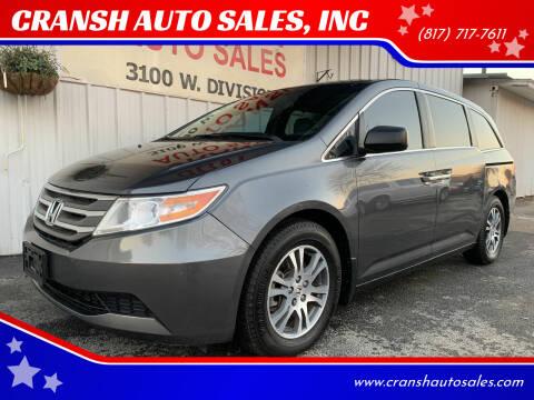 2012 Honda Odyssey for sale at CRANSH AUTO SALES, INC in Arlington TX