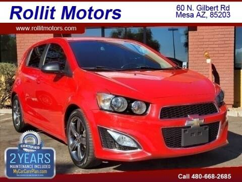 2015 Chevrolet Sonic for sale at Rollit Motors in Mesa AZ