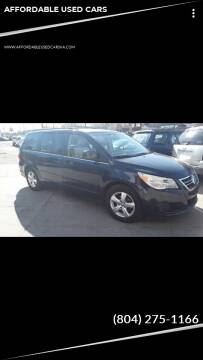 2009 Volkswagen Routan for sale at AFFORDABLE USED CARS in Richmond VA