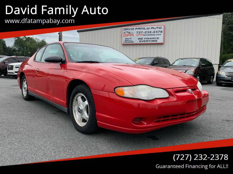 2005 Chevrolet Monte Carlo for sale at David Family Auto in New Port Richey FL