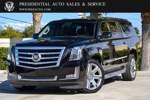 2015 Cadillac Escalade ESV for sale at Presidential Auto  Sales & Service in Delray Beach FL