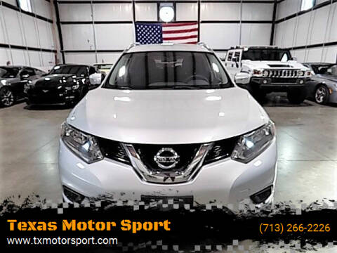 2014 Nissan Rogue for sale at Texas Motor Sport in Houston TX