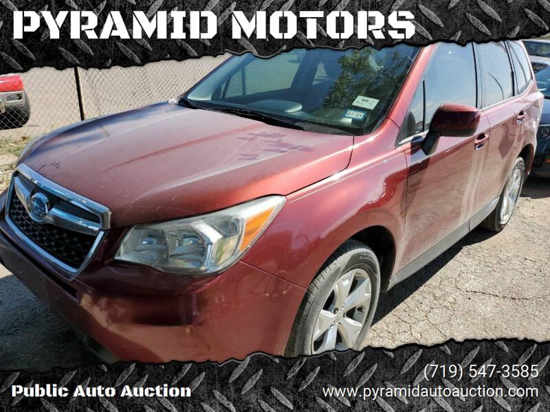 2015 Subaru Forester for sale at PYRAMID MOTORS - Pueblo Lot in Pueblo CO