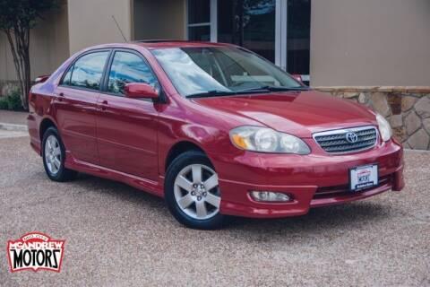 2007 Toyota Corolla for sale at Mcandrew Motors in Arlington TX