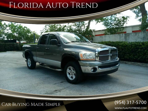 2006 Dodge Ram Pickup 1500 for sale at Florida Auto Trend in Plantation FL