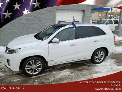 2015 Kia Sorento for sale at Motor City Direct Auto Sales & Service in Pontiac MI