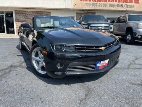 2014 Chevrolet Camaro for sale at North Georgia Auto Brokers in Snellville GA