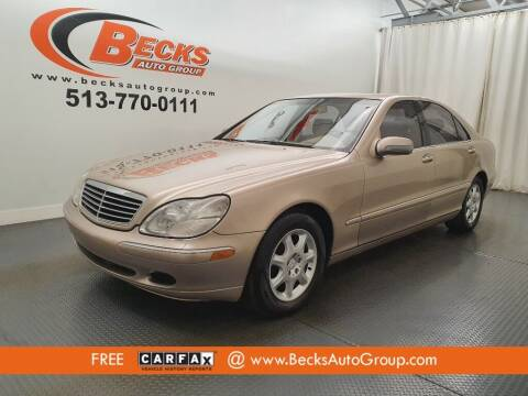 2000 Mercedes-Benz S-Class for sale at Becks Auto Group in Mason OH