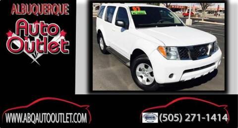 2007 Nissan Pathfinder for sale at ALBUQUERQUE AUTO OUTLET in Albuquerque NM