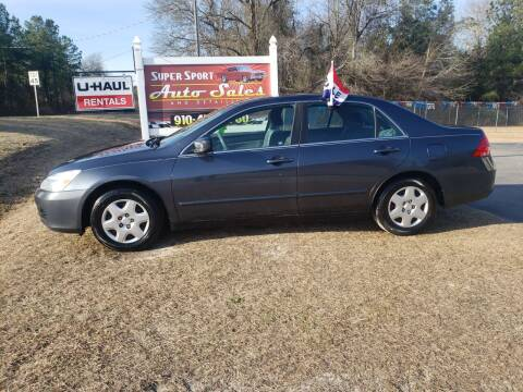 2007 Honda Accord for sale at Super Sport Auto Sales in Hope Mills NC
