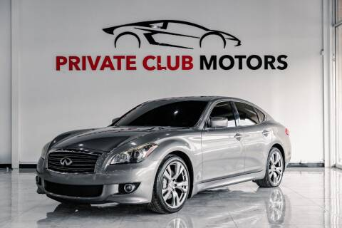 2013 Infiniti M37 for sale at Private Club Motors in Houston TX