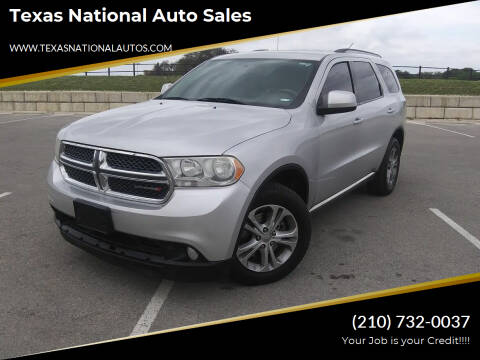 2013 Dodge Durango for sale at Texas National Auto Sales in San Antonio TX