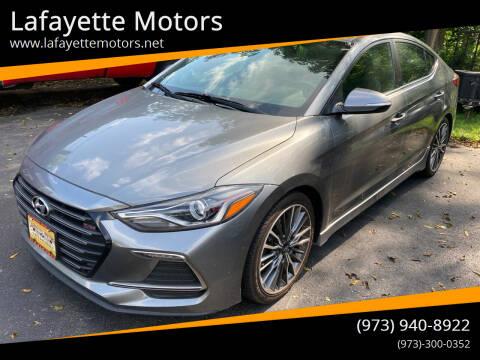 2017 Hyundai Elantra for sale at Lafayette Motors in Lafayette NJ