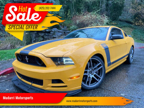 2013 Ford Mustang for sale at Mudarri Motorsports in Kirkland WA